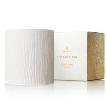 Frasier Fir Gilded Ceramic Candle Medium