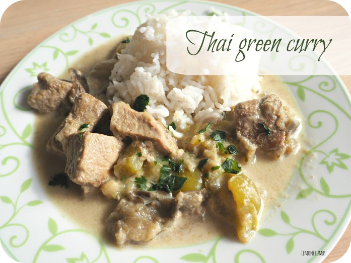 thai green curry title