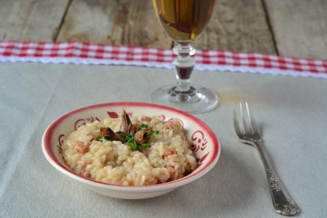 risotto aux crevettes grises