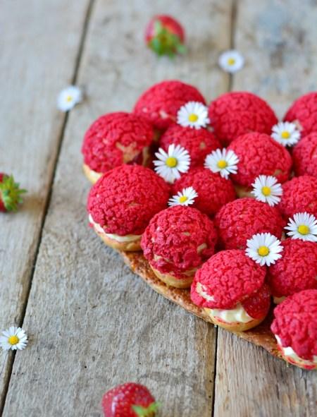 choux aux fraises et cardamome