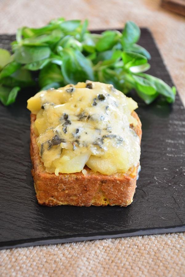 pain perdu au Bleu d'Auvergne