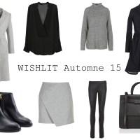 MODE // Wishlist Automne 15