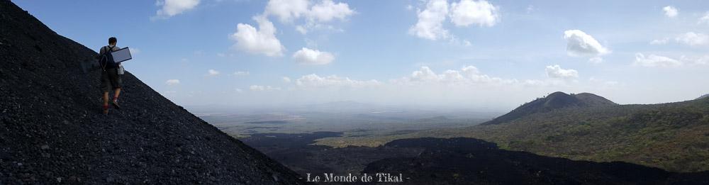 nicaragua cerro negro volcan volano ashes cendres stéphane planche board