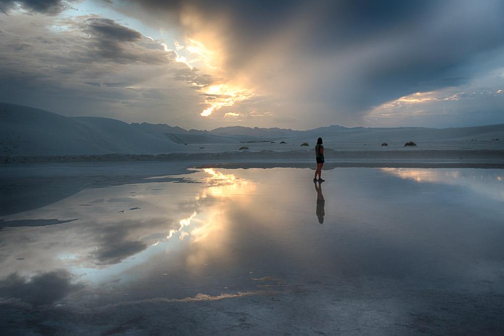 White Sands National Monument - Reflet après la pluie