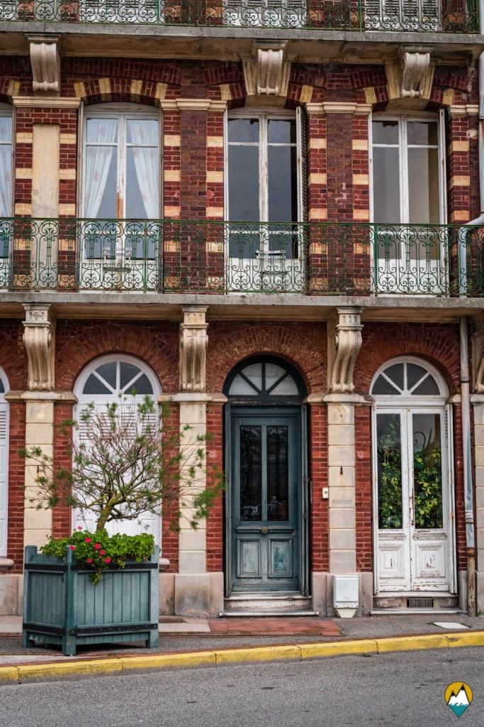 Baie de Somme - Mers-les-Bains - villas colorées Belle Époque