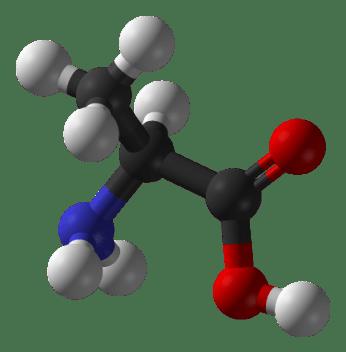 Molécule d'alanine
