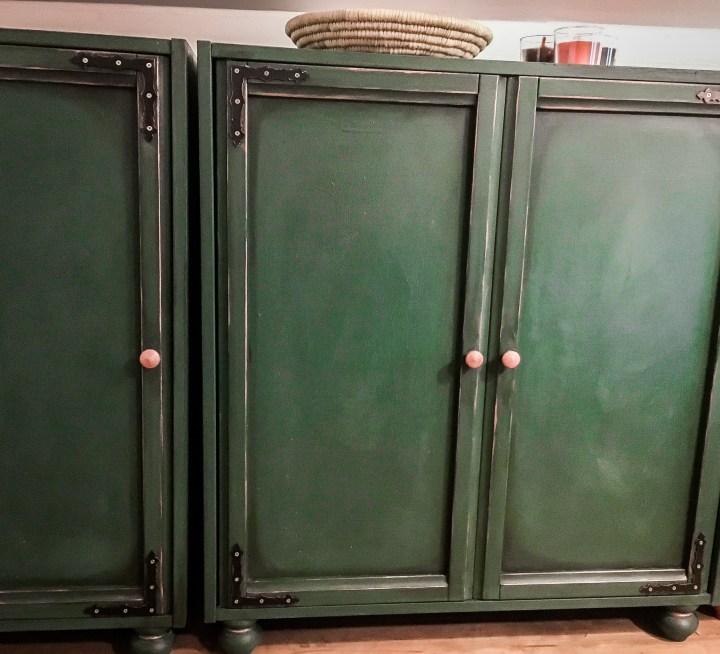 DIY vintage renovace skříněk