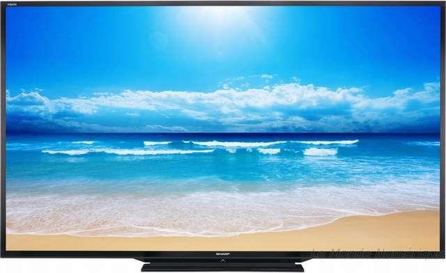 sharp lance la plus grande tv au monde