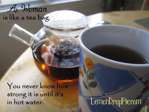 Woman like tea