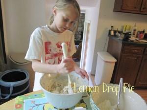 Lily stirring