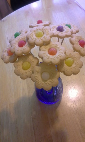 butter cookie bouquet
