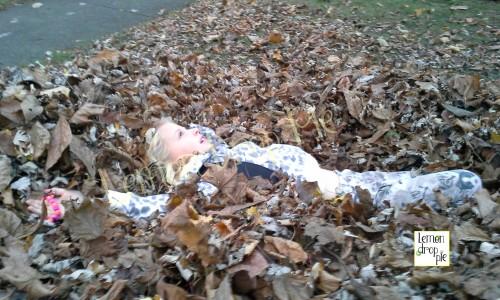 watermarked leaf pile