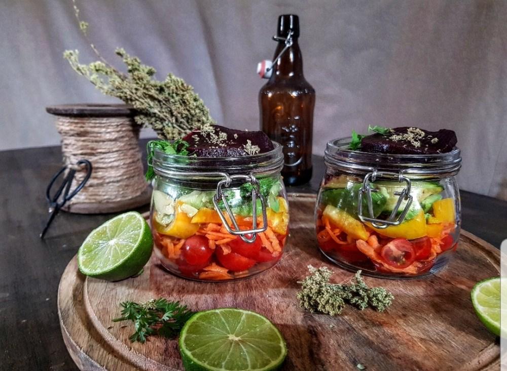 insalata in vasetto