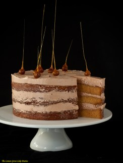 Butterscotch and Chocolate Cake
