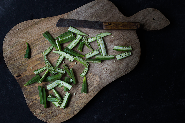 Okra in Gramflour Gravy
