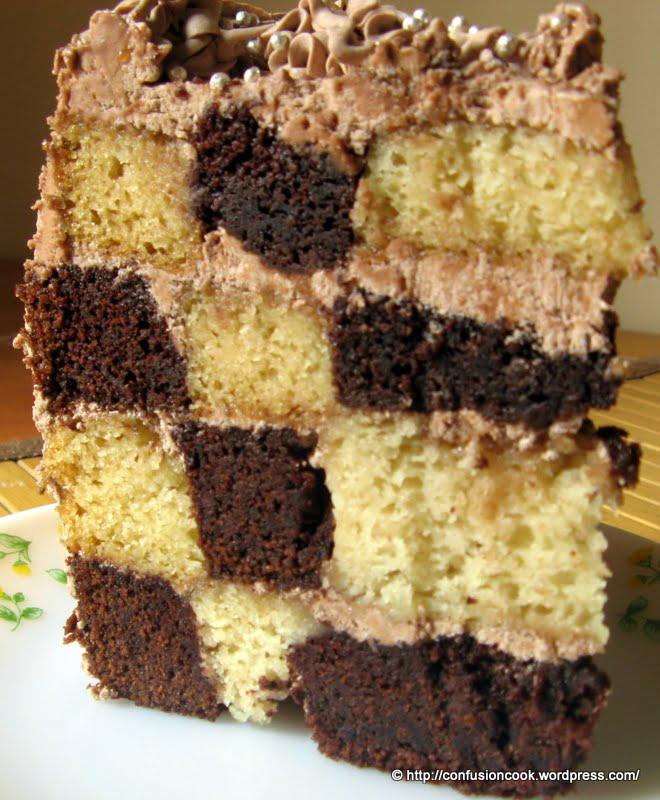 Black And White Checkerboard Cake Recipe