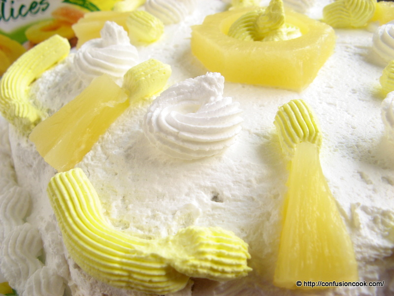 Eggless Pineapple Gateau