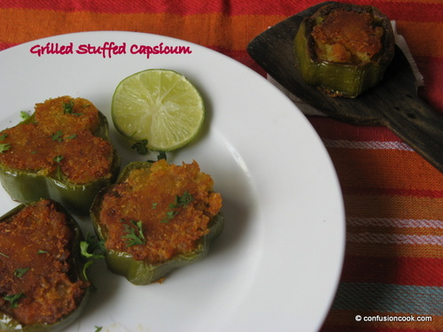 Grilled Stuffed Capsicum