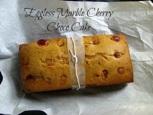 Eggless Choco Cherry Marble Cake