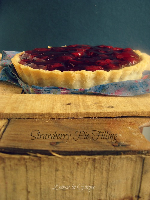 Eggless Strawberry Pie