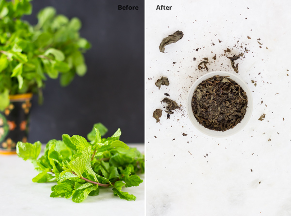 Dried Mint Leaves   How To