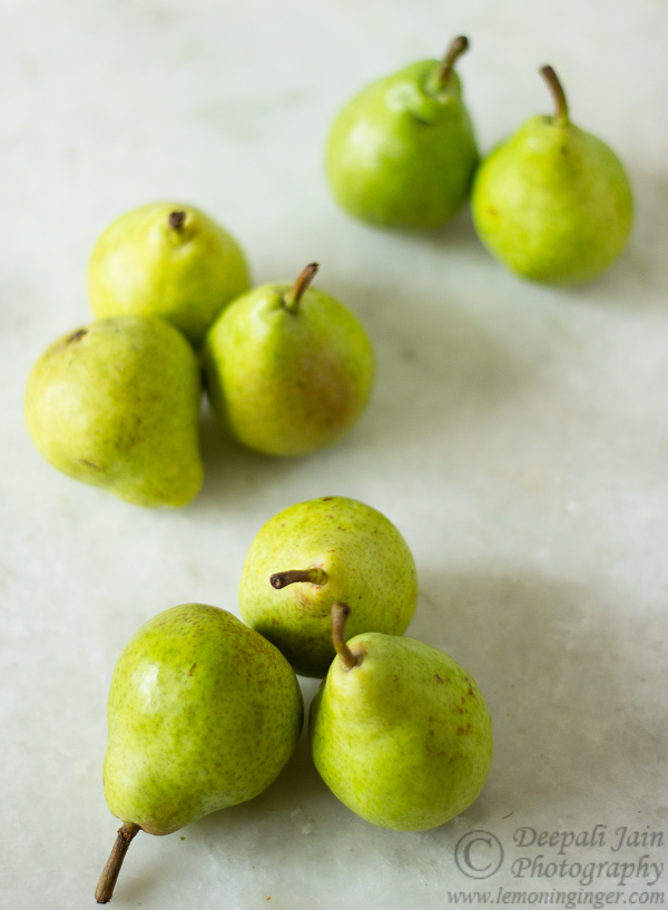 Spiced Pears in White Wine