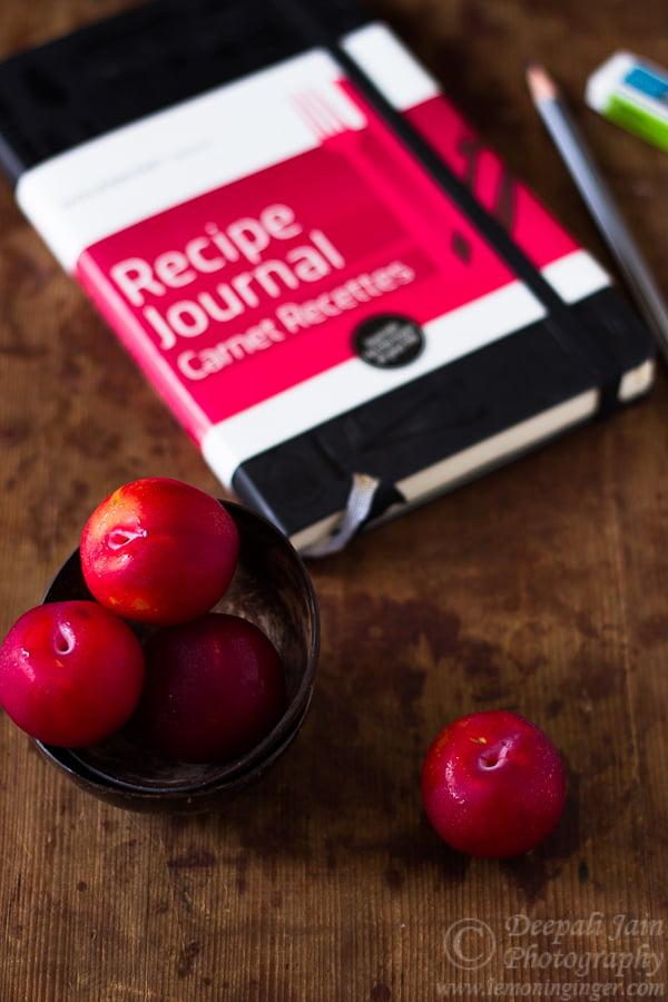 Apple and Plum Crisp | Moleskine Recipe Journal