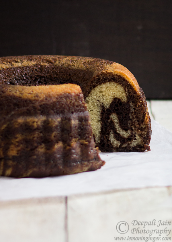 Eggless Chocolate Zebra Cake