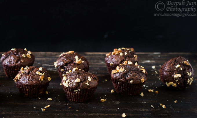 Eggless Chocolate Banana Muffins | Quickbread