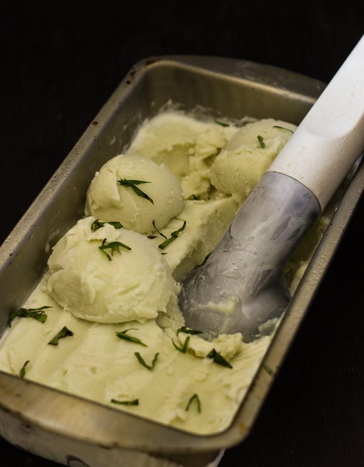 Basil Ice-cream