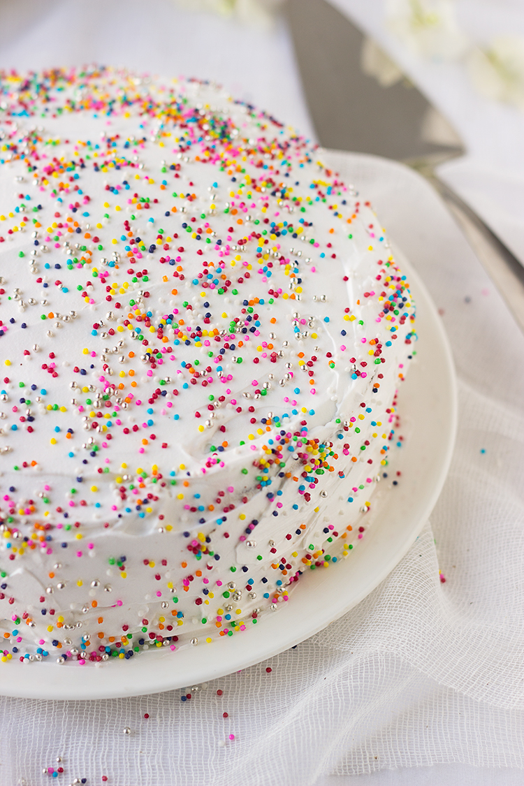 Iced Chocolate Birthday Cake Sprinkles