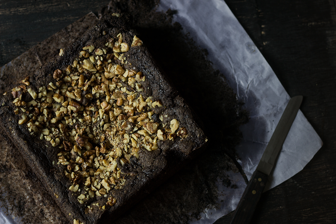 Spinach Ragi Millet Brownies