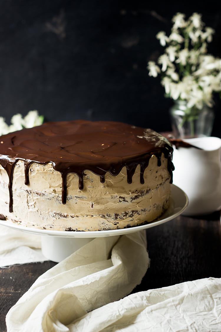 Mocha Cake with Chocolate Glaze