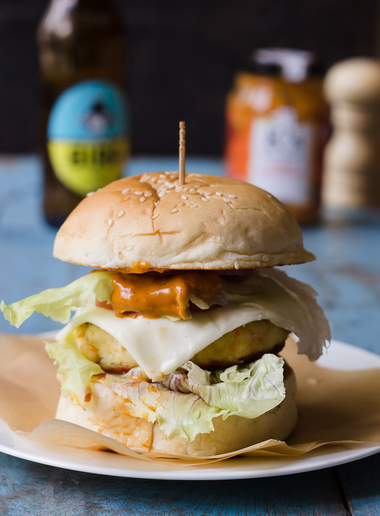 Paneer Soya Tikka Burger