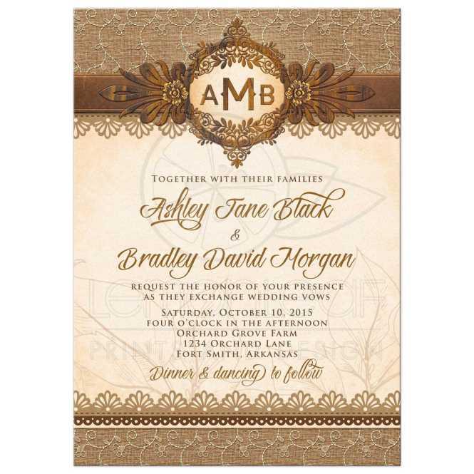 Emblem Wedding Invitations