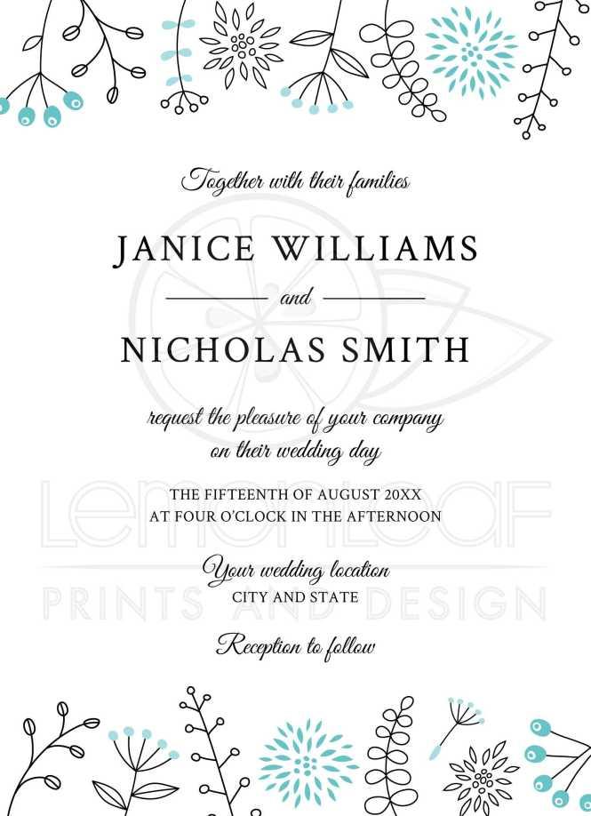Blue Aqua Wedding Invitations With Brick Pattern Envelope Liner