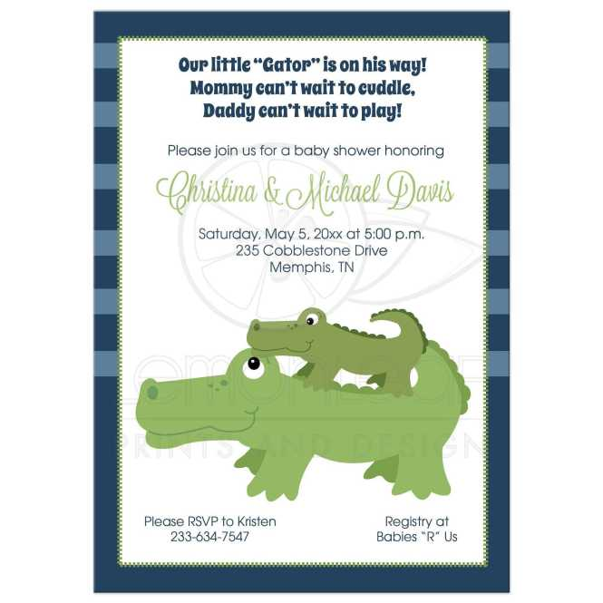 Customized Boy Baby Shower Invitation