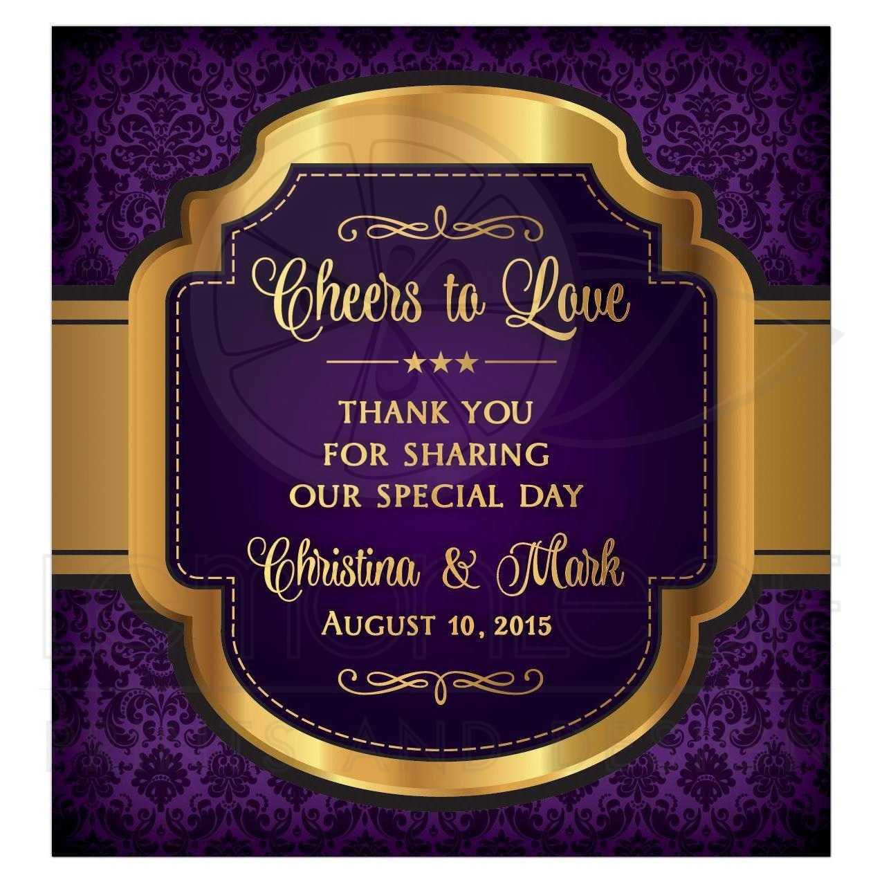 Purple Baptism Invitations