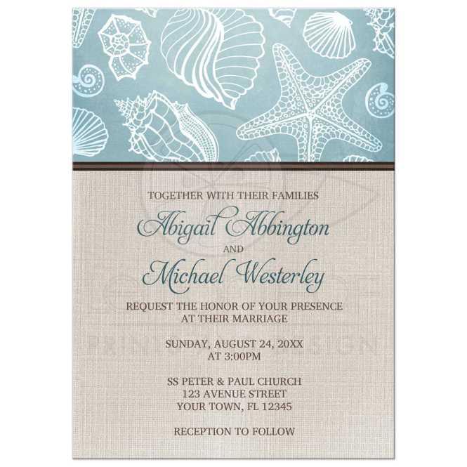 Wedding Invitations Rustic Beach