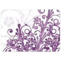 Wedding Invitation Purple Abstract Floral