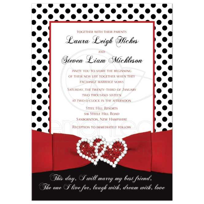 Wedding Invitations Red Black And White