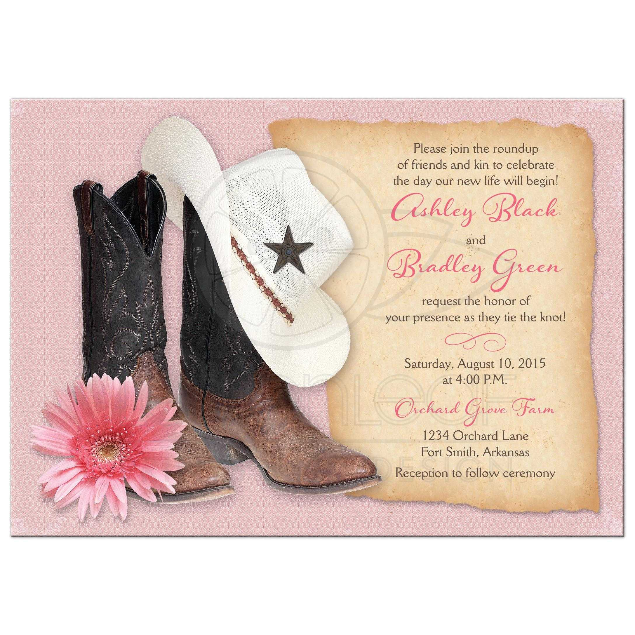 Country Western Bridal Shower Theme
