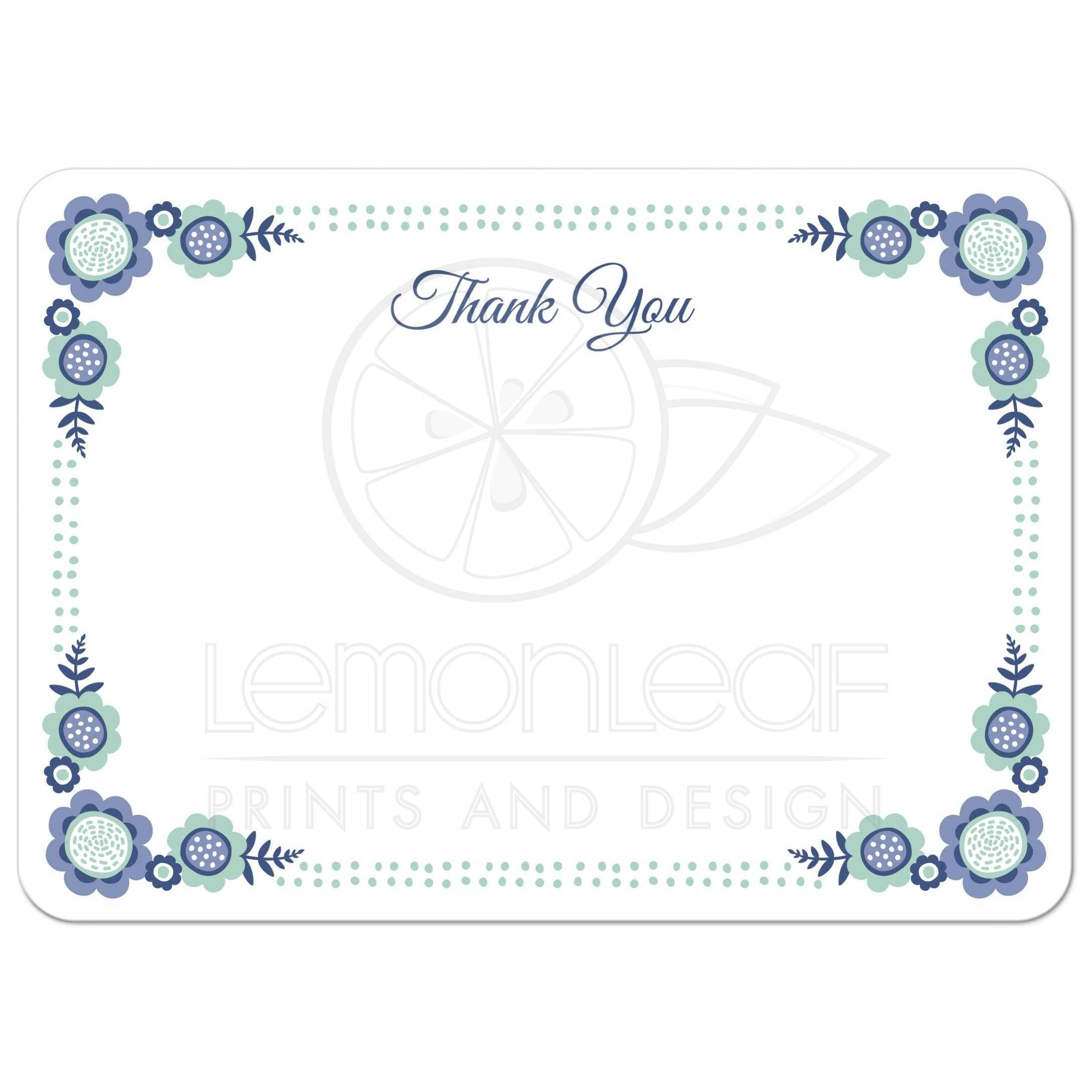 Nautical Thank You Card Personalized Note Card Kids Thank You Note
