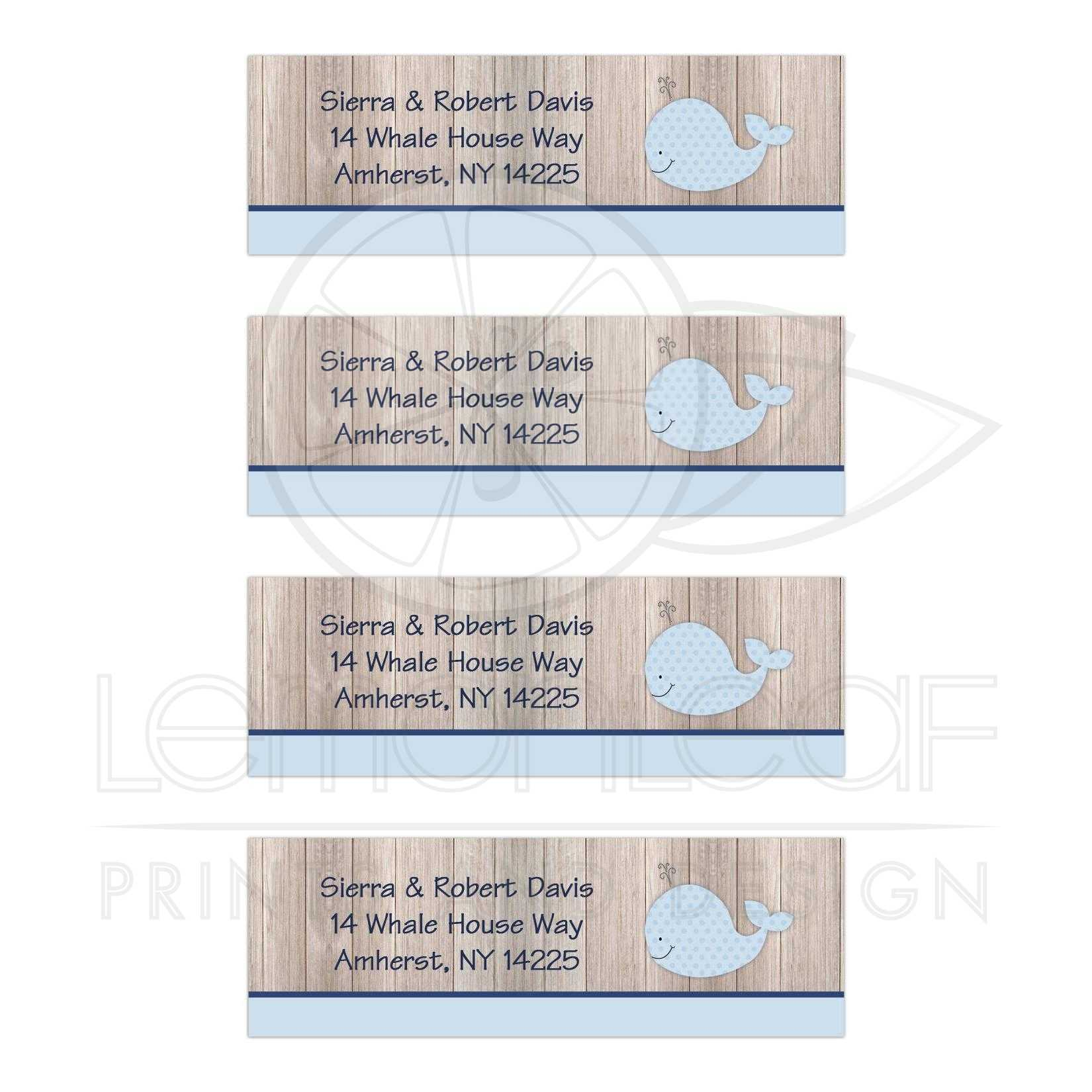 Rustic Whale Nautical Address Labels