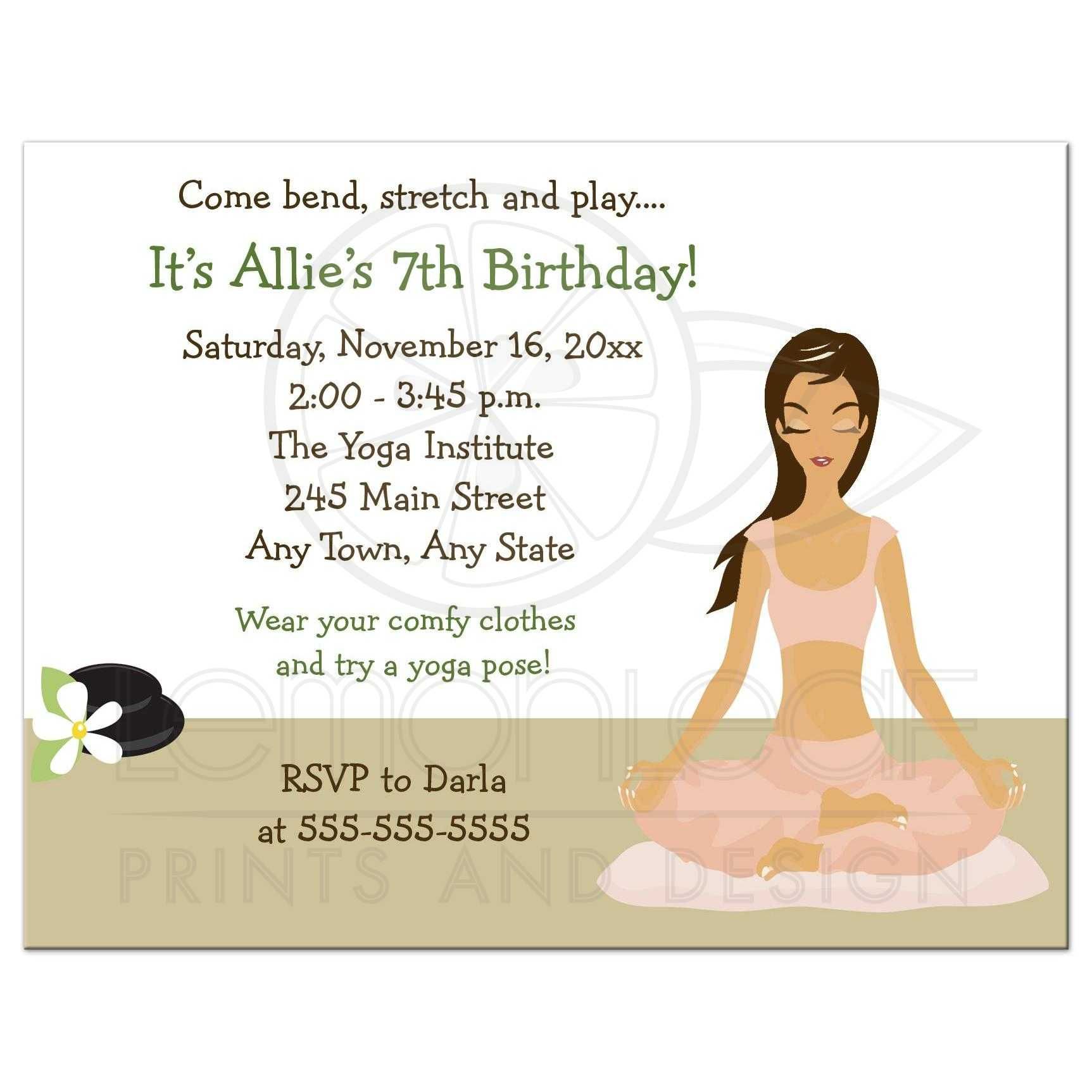 yoga birthday girl party