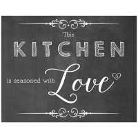 11x14 This Kitchen Is Seasoned With Love Chalkboard ...