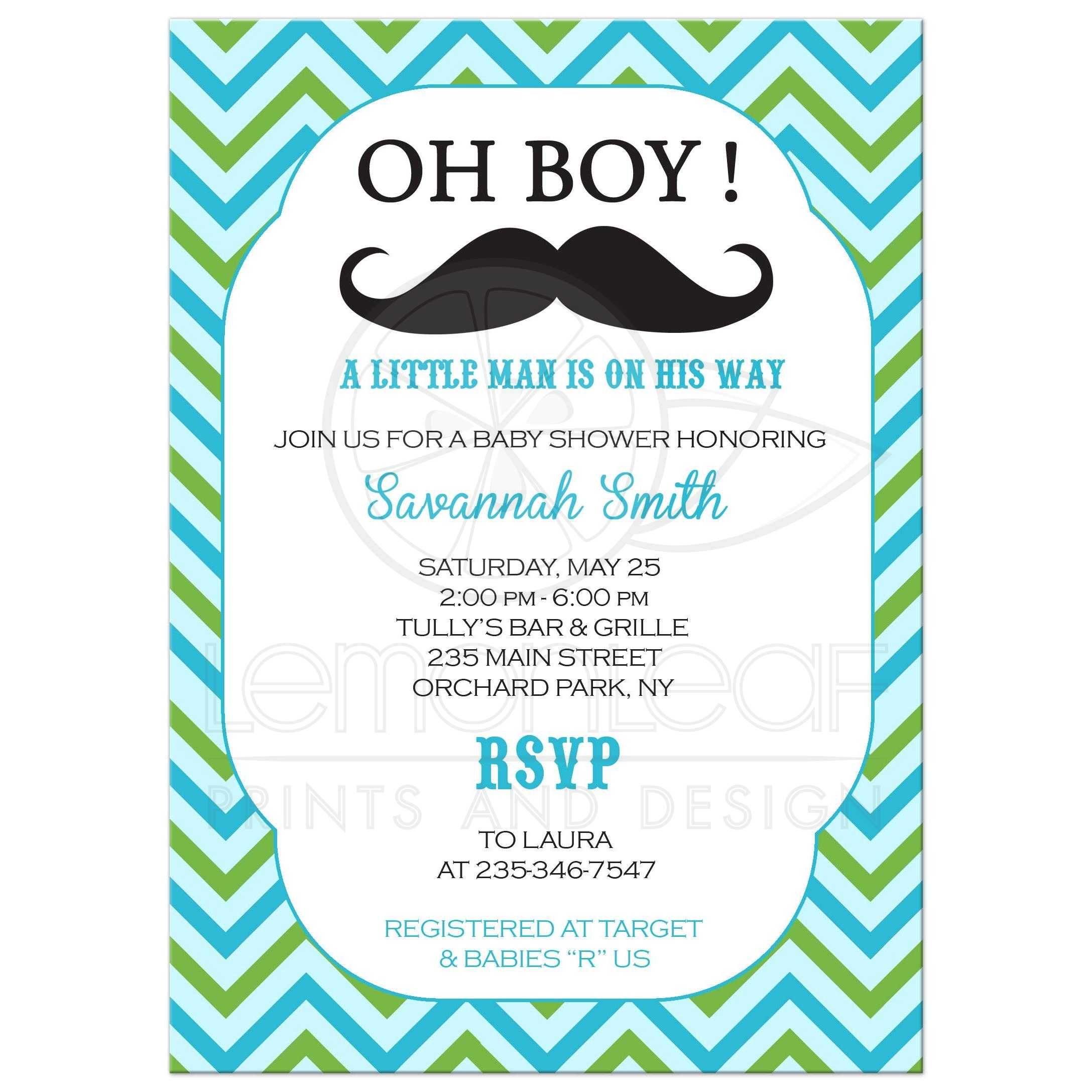 Man Baby Shower