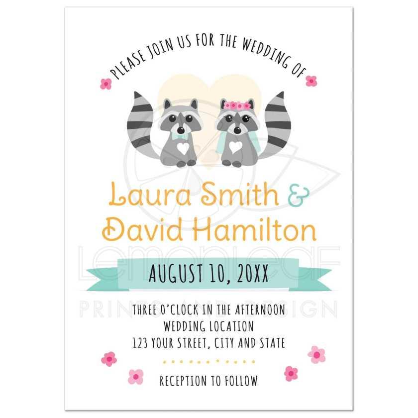 Cute Rac Couple Whimsical Wedding Invitation