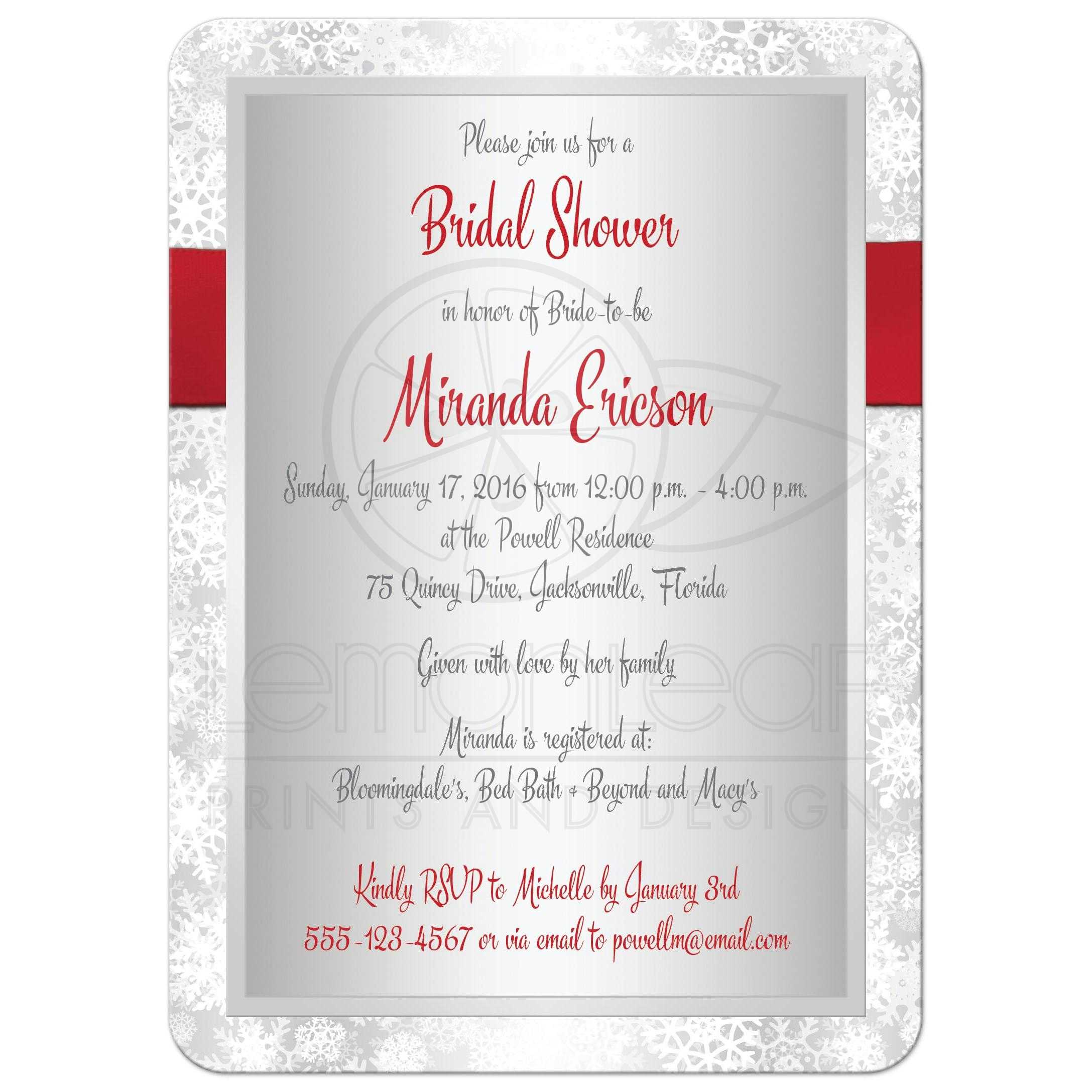 kitchen bridal shower invitations sink accessories invitation | red, gray, white simulated ...