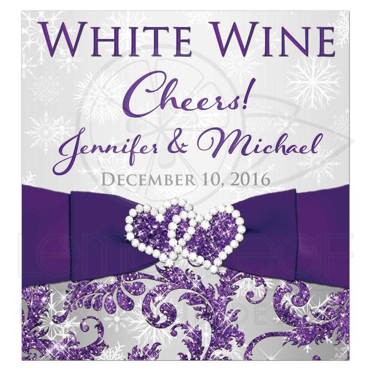 wine bottle label purple